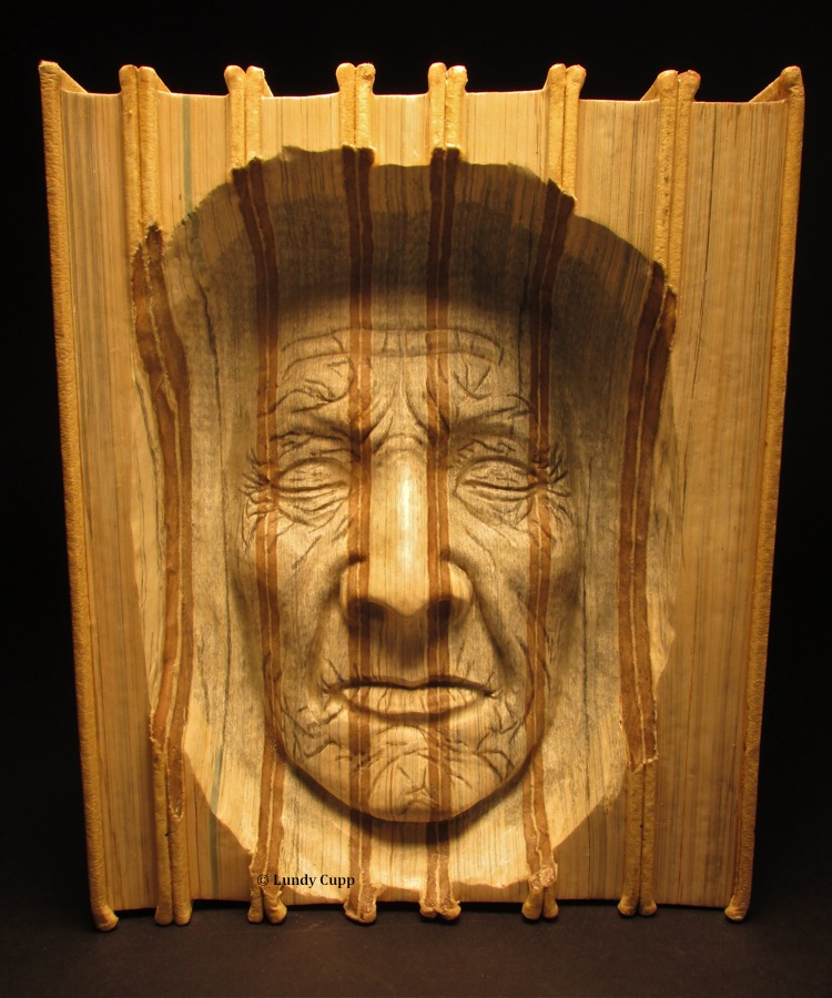 Carved books woodcarving lundy cupp