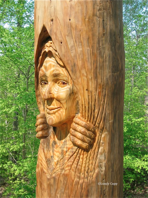 Tree trunks large woodcarvings woodspirits lundy cupp for What to do with tree logs